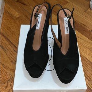Women Steve Madden black high heels size 8.5